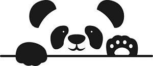 Peeping Panda Bear Animal decal vinyl sticker wall window vehicle display