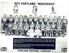 1973 PORTLAND MAVERICKS PCL TEAM 8 1/2 X 11  PHOTO  BASEBALL OREGON