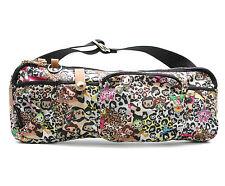 "Tokidoki Anime Print Nylon Oblong Shoulderbag Handbag Purse Rainbow Zipper 14.5"""