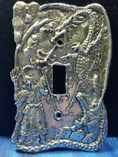 Sorcerer Dragon Pewter Light Switch Plate Single Fellowship Foundry US Made