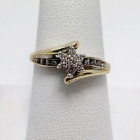 Playful Diamond 10k Gold Flower Ring (5283D)