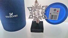 SWAROVSKI Christmas Ornament 3d STELLA ARGENTO STAR SILVER 5135808 AP 2017 NUOVO