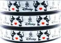 """7/8"""" 2 YARDS Mickey Minnie Mouse Grosgrain Ribbon Bows Scrapbooks Crafts Cards"""