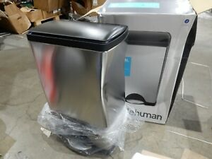 kitchen Trash Can Stainless Steel Step-On  38-Liter (slightly dented)