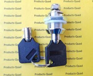 "Homak Tool Box Replacement Tubular Cam Lock 5/8"" Quarter turn. retaining key"