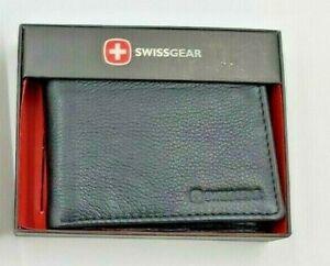 Swissgear Men's Wallet Leather Black In Box