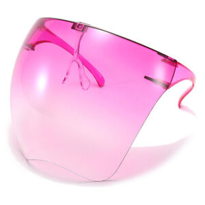 Clear Face Shield Mask Transparent Reusable Glasses Visor Anti-Fog