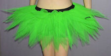 Adult UV Neon Green Tutu Skirt 7 Layers Clubwear Dance Christmas Party Dress