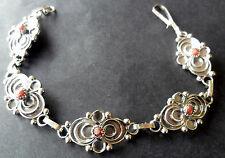 Gourmette Kabyle Bracelet Berbère bijou Amazigh corail ethnic silver  jowel
