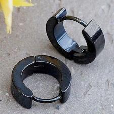 1Pair Punk Mens Women Stainless Steel Hoop Huggies Ear Stud Earrings Gothic
