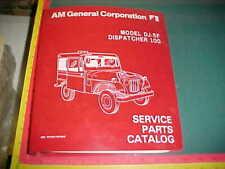 Am General Dj-5F Dispatcher 100 Jeep Illustrated Service Parts Catalog 1977 1978