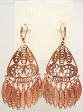 New Copper Tone Filigree Dangle Earrings by Illuminata NWT #E1237
