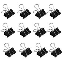 12 Stück Foldback Klammer Clips 41mm Briefklemmer Büroklammern Büro Organisieren
