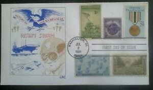 First day of issue, 1991 Honoring Operation Desert Storm, multi-franked #2552
