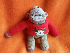 Happy Christmas PG Tips Knitted Monkey Chimp Soft Toy Beanie 6""