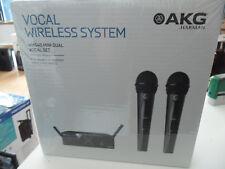AKG WMS40 doppio WIRELESS RADIOMICROFONO handheld PROFESSIONALE,NUOVO