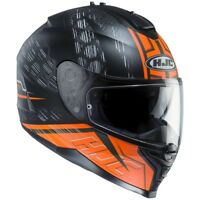 CASCO HELMET CAPACETE MOTO INTEGRALE HJC IS 17 ENVER BLACK ORANGE OPACO TG M