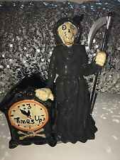Yankee Candle Boney Bunch TIMES UP GRIM REAPER Votive Holder. 2011 Halloween NEW