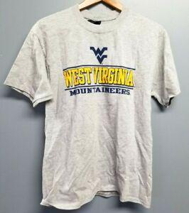 Univ WEST VIRGINIA MOUNTAINEER T-SHIRT By Champion Gray Sz Medium