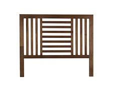 Cabezal de cama doble en madera maciza, color marrón