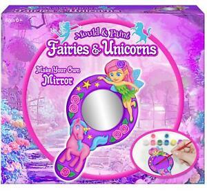 Make Your Own Fairies and Unicorns Plaster of Paris Hand Mirror
