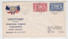 France 1927 American Legion Covention Cover