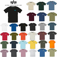 Alpha Industries Basic T Small Logo Herren T-Shirt Rundhals Freizeit Tee 188505