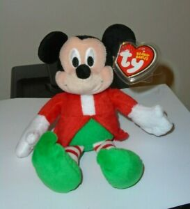 Ty Beanie Baby - MICKEY MOUSE (Holiday Outfit - Walgreens Exclusiv)(7 Inch) MWMT