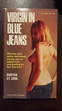 "Burton St. John, ""Virgin in Blue Jeans,"" 1964, Softcore Lib S95188, NF, sleaze,"