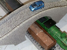 N GAUGE DOUBLE TRACK BRIDGE OVERPASS  HUMP STYLE  LASER ENGRAVED PAINTED