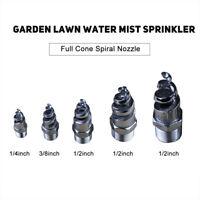 New Stainless Steel Full Cone Spiral Nozzle Garden Lawn Water Mist Sprinkler