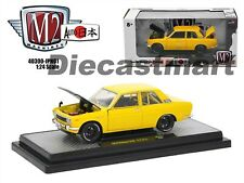 M2 MACHINES 40300-JPN01B AUTO JAPAN 1970 DATSUN 510 1:24 DIECAST MODEL YELLOW