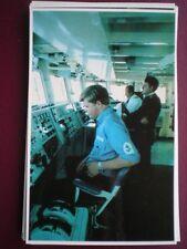 POSTCARD RP THE BRIDGE OF HMS SHEFFIELD FALKLAND TASK FORCE