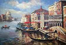 "24x36""100% hand painted oil flat,Venice Gondola"