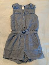 Guess Kids Blue And White Striped Romper Size M/10-12