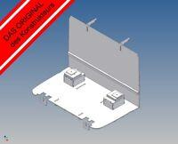 LB-ATK: Fahrerhausboden für Tamiya ACTROS (M 1:14) - Trennwand und Sitzkonsolen