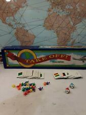 Take Off! Game Teaches Geography Educational Map Homeschool 6 +  Rare!