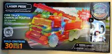 Laser Pegs Lighted Construction Set Fire Truck 30 in 1 Building Set 297 pcs NIB