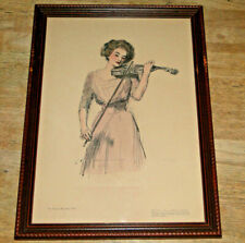 1909 Collier's Original Artist Proof Gibson Girl Series A No 9 Signed