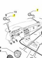 Fiat Coupe Front Dashboard Tweeter Speaker New & Genuine 46304203