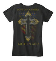Love Of Country, Faith In God - Country Women's Premium Tee T-Shirt