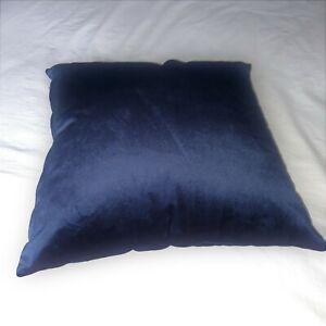 NAVY DARK BLUE LIGHWEIGHT LUXURY SOFT PLAIN VELVET HOTEL BED RUNNERS / CUSHIONS