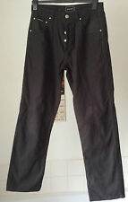 "Rockport ~ black cotton straight leg button fly jeans ~ 32"" W X 32"" L"