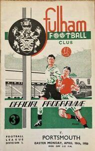 Fulham v Portsmouth  Div 1  1949/50