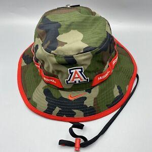 NWT Nike Camo Bucket Hat Arizona Wildcats Center Swoosh Sideline Hip Hop Rap Cap