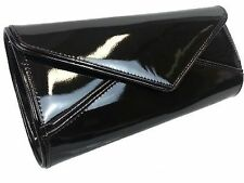 Ladies Patent Clutch Bag Glossy Prom Envelope Evening Bag Wedding Handbag K09179