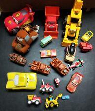 Bulk lot Disney Pixar CARS toys, diecast meta, plastic & soft plush types.
