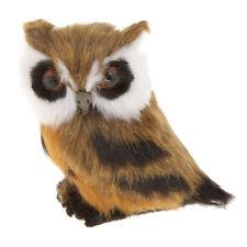 Lifelike Night OWL Ornament Figurine Artist Handwork Kid Child Toy Gift #3
