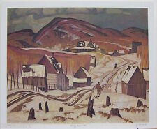 A.J. CASSON group of seven Early Snow art print RARE & MINT