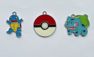 POKEMON GO Metal Charms Pendant jewellery Party Bag Squirtle Bulbasaur choose no